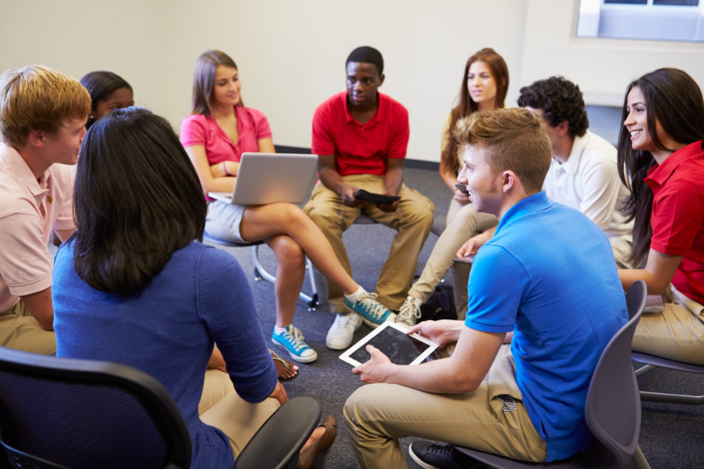 Group discussion of students